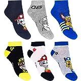 Calcetines deportivos para niños, 6 pares de calcetines de la Patrulla Canina. multicolor 23-26