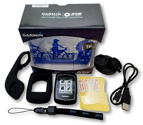 Freedom Bike Garmin Edge 200 Cycling GPS Cycling Computer Bonus Bundle - Includes Edge 200, Out-Front Mount, Protective Silicone Case, 3 Screen Protectors, Tether/Lanyard, and More