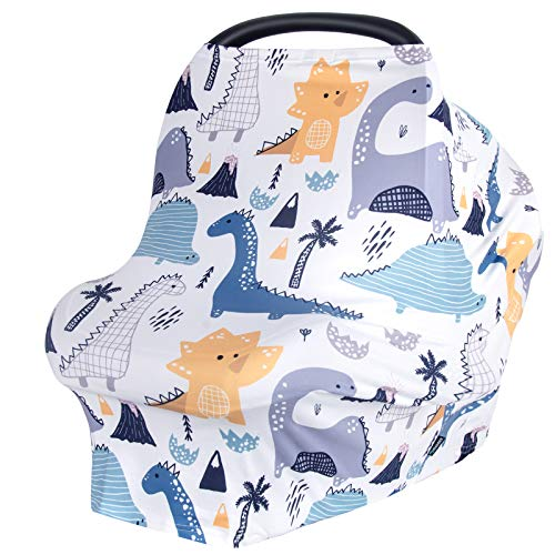 Car Seat Covers for Babies Nursing Cover for Breastfeeding Baby Carseat Canopy Carseat Cover for Boys and Girls Infant Car Seat Cover Multiuse Baby Shopping Cart/High Chair/Stroller Covers