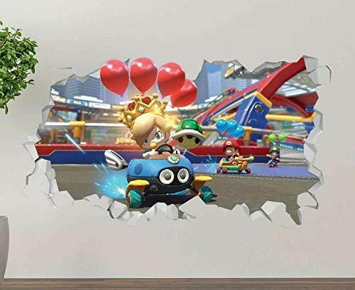 Pegatinas de pared Kart acción aventura calcomanía de pared decoración arte 3d pegatina