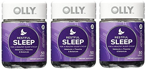 Olly Restful Sleep Gummy Supplements Blackberry Zen 3pack 100