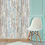 Wood Wallpaper Summer Theme 3D Beach Contact Paper Very Easy to Use Great for Kitchen Backsplash Bathroom Bookshelf Shelf Drawer Liner Summer Beach Style Decoration Film
