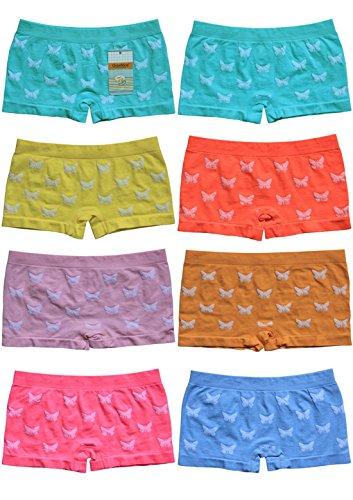 BestSale247 12 Stück Mädchen Pantys Hipster Shorts Boxershorts Girls Unterhosen Kids Unterwäsche Mikrofaser bunt 92 bis 158 (110-122)