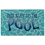 Liora Manne Natura Summer This Way to The Pool W Outdoor Welcome Coir Door Mat, 1'6' x 2'6'