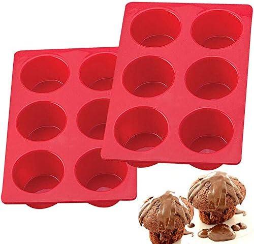 European LFGB Silicone Jumbo Muffin Pan 6 Cup Non Stick Large Cupcake Baking Pan Egg Cupcake product image