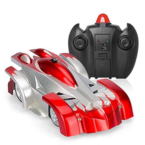 Local Makes A Comeback Auto-afstandsbediening voor klimmen, op afstand bedienbaar speelgoed voor auto, oplaadbaar afstandsbediening voertuig met afstandsbediening USB (rood)