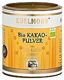 Geröstetes Bio Kakaopulver. Low Cadmium* 200g von Edelmond, pur + entölt als Back und Schokoladen Zutat. 100% ohne Zucker