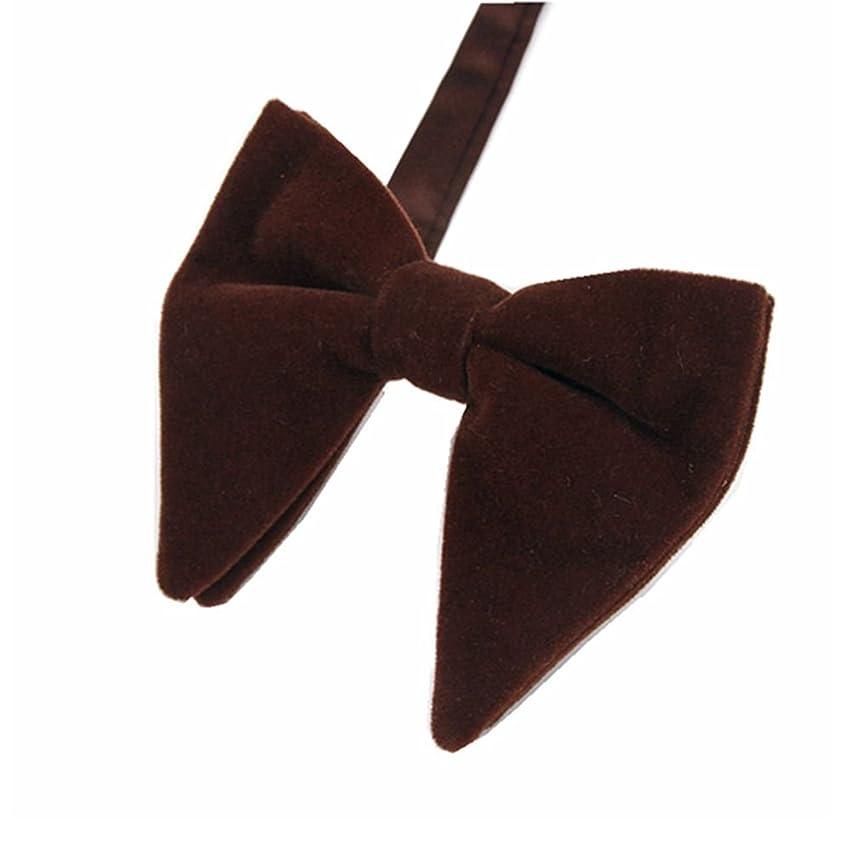 Men's Bow Tie Solid Color Velvet Oversized Bowtie Length 4.5