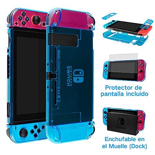 LEHOO Funda de Nintendo Switch, Ajusta la estación de Acoplamiento, Cubierto Protector para Nintendo…