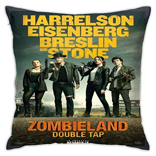 COOL-SHOW Rule Zombieland - Fundas de almohada decorativas de doble grifo, 45,7 x 45,7 cm, fundas de almohada para dormitorio, coche y vaquero