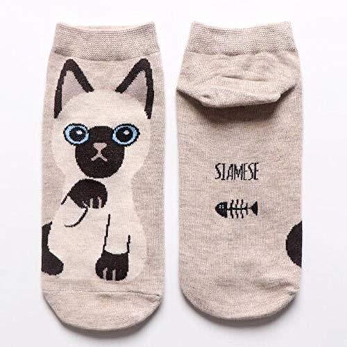 OrderLaiLai Damen Socken (10 Paar Packung) Cotton Classic Bequeme atmungsaktive Socken