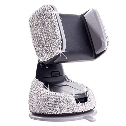 iSpchen Soporte Para Teléfono Móvil Multifunción Para Automóvil, Soporte de Montaje Para Teléfono de Cristal Para Automóvil, 360 ° Ajustable de Aire Ventilación