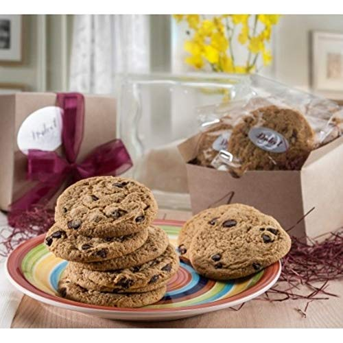 Dulcet Gift Baskets All Time Favorite Soft Chewy Chocolate Chip Cookie 12 Count Kraft Box- Great Gift Box for Get Well Wishes-New Baby-Congratulation or Thank You Wishes for Corporate Gifting