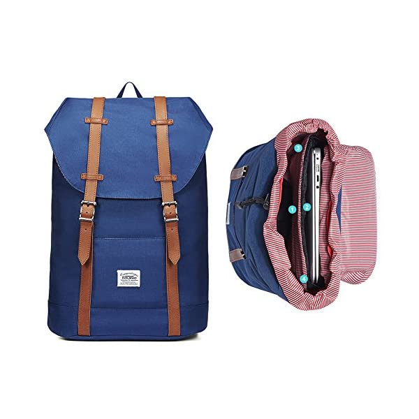 "51wDg uDlGL. SS600  - KAUKKO Mochila Casual Mochila de Estudiante Ligero 16"" Laptop Bolsa al Aire Libre para Viajar/Deporte/Cámping (Azul)"