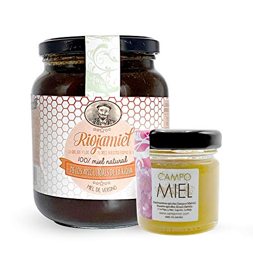 Miel de abeja pura | Miel de verano de España 100{0b6f20aa26f62b2dd63d2e9c0b7d18a68a0fd3135500fa257463f5167484e919} Natural, Organica, Fresca y Cruda 950 Gr / Miel cruda, extracción en frío