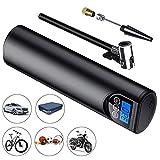 InLoveArts Pompe à air numérique Intelligente Mini gonfleur Portable Gonfleur de Pneu de Voiture sans Fil monté sur véhicule Affichage numérique de Chargement USB pour Ballon, vélo, Moto, Voiture