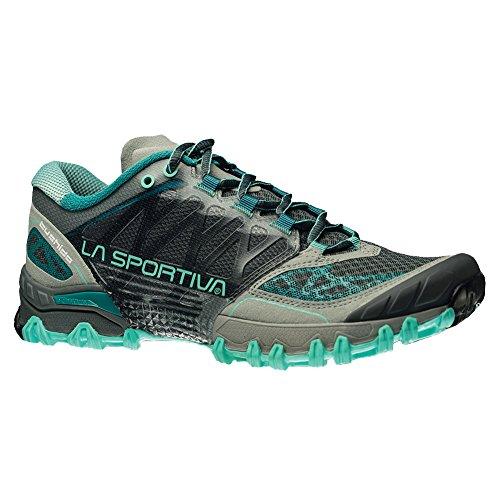 La Sportiva Women's Bushido Trail Running Shoe, Grey/Mint, 39 M EU