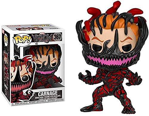 Marvel Venom Series Deadpool Venom Venom Personaje Animado Modelo Sacudiendo la Cabeza de la muñeca Venom Carnage-Veneno carnicería