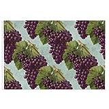Alfombra de bienvenida vintage de uvas y vides de color morado oscuro para puerta delantera, interior y exterior, alfombra de entrada antideslizante, resistente al agua, duradera, 39,7 x 59,9 cm