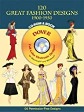 120 Great Fashion Designs, 1900-1950, CD-ROM and Book
