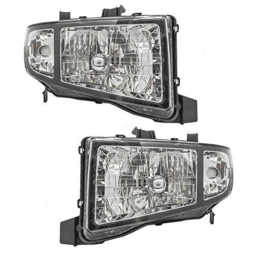 Brock Replacement Driver and Passenger Headlights Headlamps Compatible with 2006-2008 Ridgeline Pickup Truck 33151SJCA02 33101SJCA02