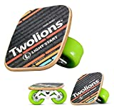 TWOLIONS Freeline Skates, Drift Skates Pédale d'érable 72 mm * 44 mm Roues PU,ABEC-9 roulements Haut de Gamme