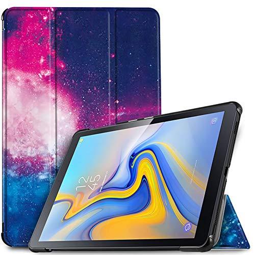 IVSO Hülle für Samsung Galaxy Tab A 10.5 SM-T590/T595, Slim Schutzhülle mit Auto Aufwachen/Schlaf Funktion Perfekt Geeignet für Samsung Galaxy Tab A SM-T590/SM-T595 10.5 Zoll 2018, Ocean Night Sky