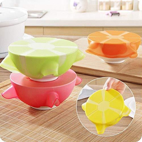 Generic - Cubierta de silicona reutilizable Saran Wrap universal selladora de succión al vacío para alimentos, cuenco de alimentos y accesorios de cocina