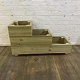 CutnCraft Designs Medium 3 Tiered Garden Steps Trough herb Box