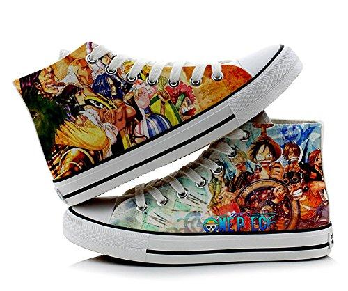 One Piece Luffy Cosplay zapatos lienzo zapatos Zapatillas Multicolor 4, colorido
