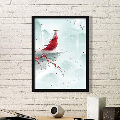 DIYthinker verzegeld met een kus Chinese aquarel eenvoudige foto frame kunst drukt schilderijen thuis muursticker cadeau