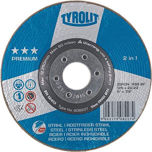 TYROLIT Rondeller Premium*** 2in1 | 125 mm | Korn 36 | Form 29RON | 1 Stück