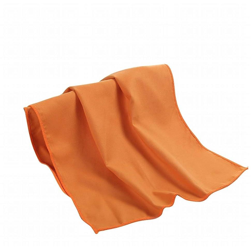 ストレッチ地下室パーセントDingfei マイクロファイバークイックドライスポーツ&トラベル&ビーチタオルキャンプ、ジム、ビーチ、水泳、バックパッキングに最適 (Color : Orange)