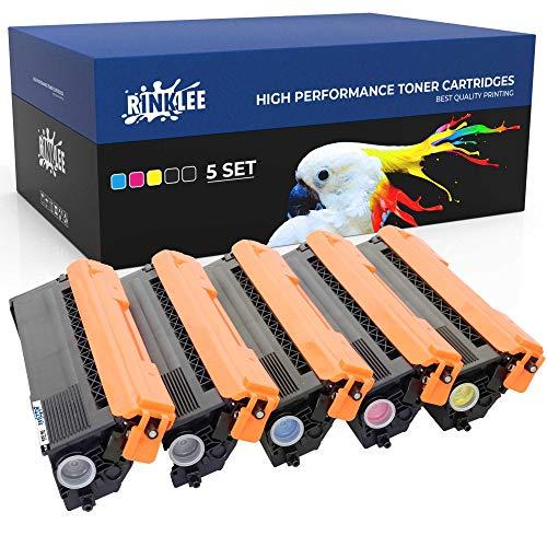 RINKLEE TN326 TN 326 Tonerkartusche kompatibel für Brother HL-L8250CDN HL-L8350CDW DCP-L8400CDN DCP-L8450CDW MFC-L8600CDW MFC-L8650CDW MFC-L8850CDW | hohe Reichweite 4000/3500 Seiten | 5er-Pack