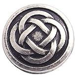 Handarbeit-Lieblingsladen 10 Metallknöpfe Ösenknöpfe 12mm rund Antik Silber Motiv Keltik