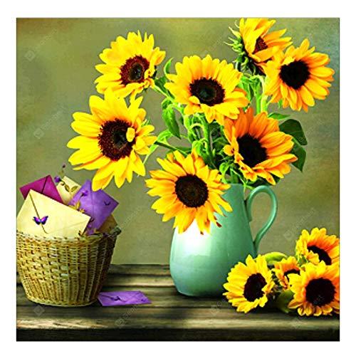 5D Diamond Painting Sunflower Kits for Adults Full Drill DIY Diamond Art Kits for Home Wall Decor 12x12Inch