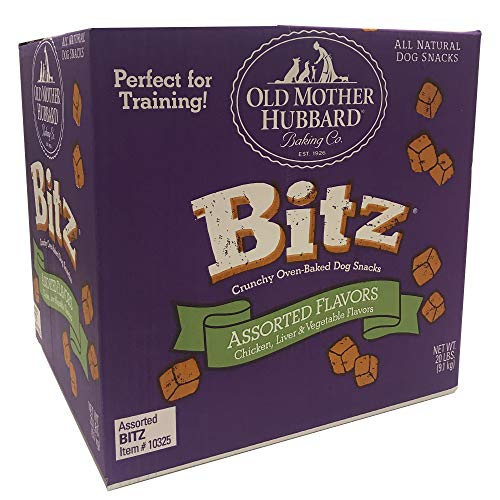 Old Mother Hubbard Bitz Natural Crunchy Dog Training Treats, Chicken, Liver & Veggies, 20-Pound Box