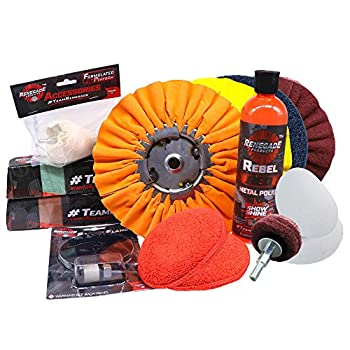 Complete Aluminum Polishing and Sanding Kit for Wheels Bumpers Tanks and Any Other Aluminum Or Stainless Surface 12 Piece Product Kit
