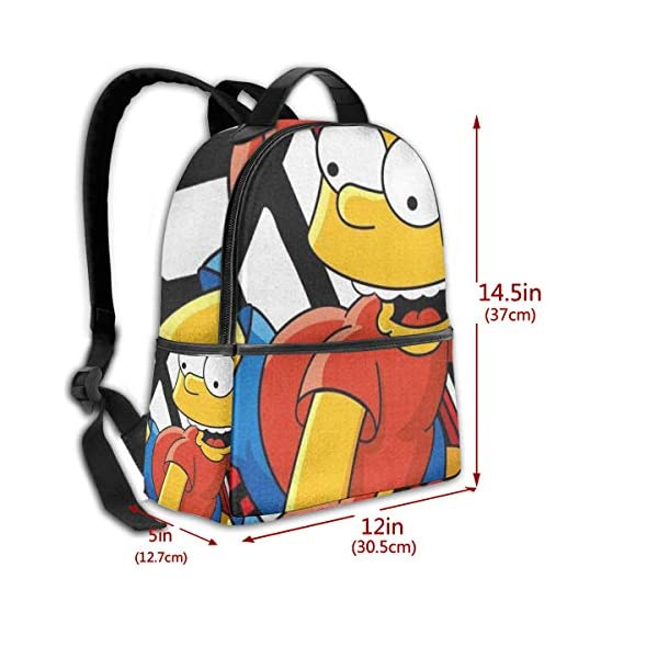 51wDkY3H8ML. SS600  - Cartoon Simpsons - Mochila para estudiantes, unisex, diseño de dibujos animados, 14,5 x 30,5 x 12,7 cm