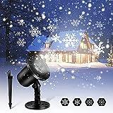 Christmas Snowfall Projector Lights, Upgraded Dynamic Snowflake...