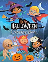 Happy Halloween Coloring Book for Kids: Halloween Designs Including Witches, Ghosts, Pumpkins, Haunted Houses and More!