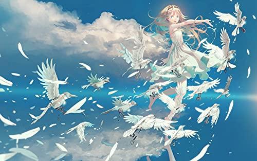 Xpboao Pintar por números - Chica Anime - Lienzo de Lino Pintura al óleo Pintura de Arte Moderno - para Adultos Niños Principiantes - 40x50cm - Sin Marco