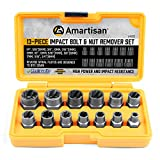 Get 21% discount by applying coupon for Amartisan Impact Bolt Extractor Tool, 13PC Bolt Nut Removal Extractor Socket Tool Set. Save $7.00.