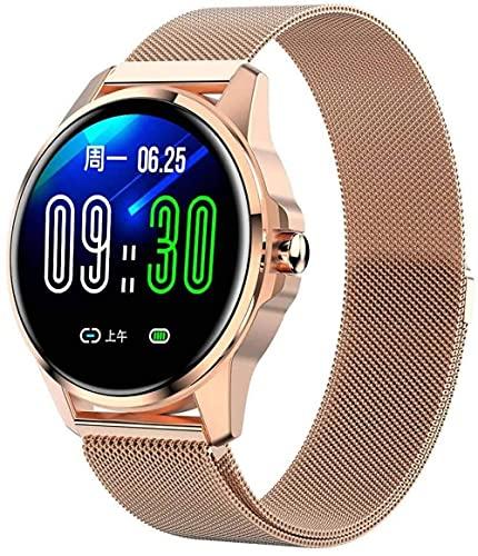 1.3 pulgadas pantalla táctil completa color reloj inteligente con monitor de ritmo cardíaco bluetooth monitor de sueño IP67 impermeable fitness tracker-B