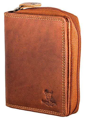 MATADOR Herren Leder Geldbörse RFID Antik Vintage Braun
