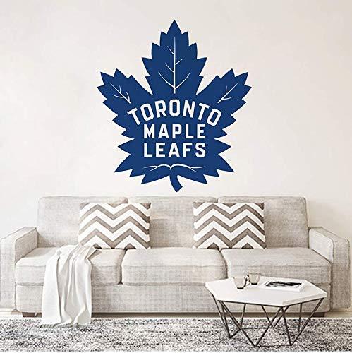 CFWZGM Wall Sticker Bedroom Creative Toronto Maple Leafs Cartoon Home Decor Vinyl Art Design Cute Poster Stickers Fashion Decals 57 63Cm