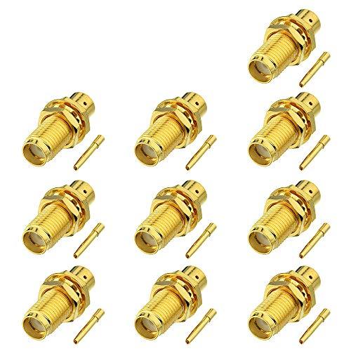 SMA aansluiting SMA bus O-ring soldeerveld HF-aansluiting voor halfvaste RG402-kabel 0,141