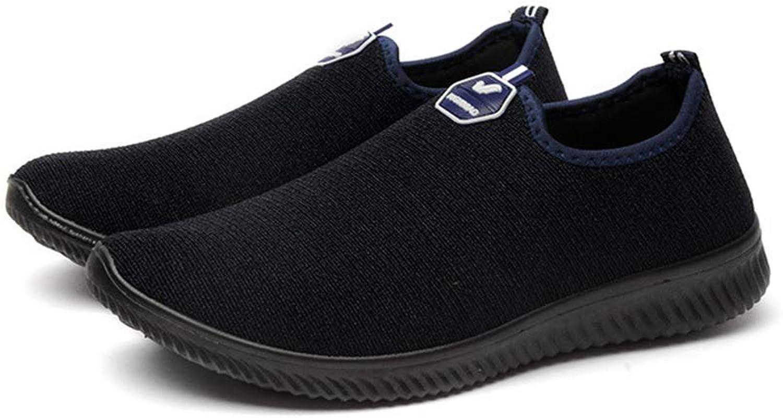 Qiusa Herren Slip auf Outdoor-Schuhe weiche Sohle Rutschfeste Breathable Casual Casual Casual Wanderschuhe (Farbe   Blau, Größe   EU 40) bda4cb