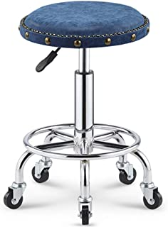 YQJJZX Bar Stool, Beauty Stool, Rotating Lift, Large Work, Sliding Wheelchair, Hairdressing, Makeup, Nail Salon, Hair Salon (Color : Style J)