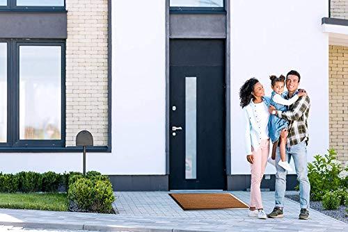 Tesar Felpudo Alaska Absorbente Entrada a casa para Exterior, Puerta Entrada casa, Impermeable, Lavable, Anti bacterias, Acolchado, Antideslizante, Pasillo, Cocina, Dormitorio (Marrón, 40 x 60 cm)